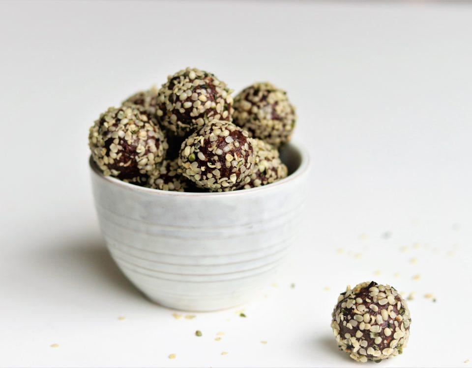 Chocolade blissballs met rauwe cacao