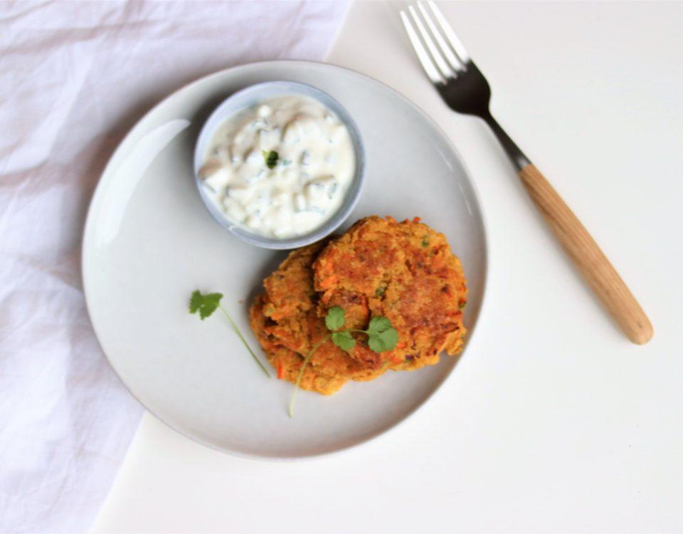 Idiase wortelpannenkoekjes (vegan)