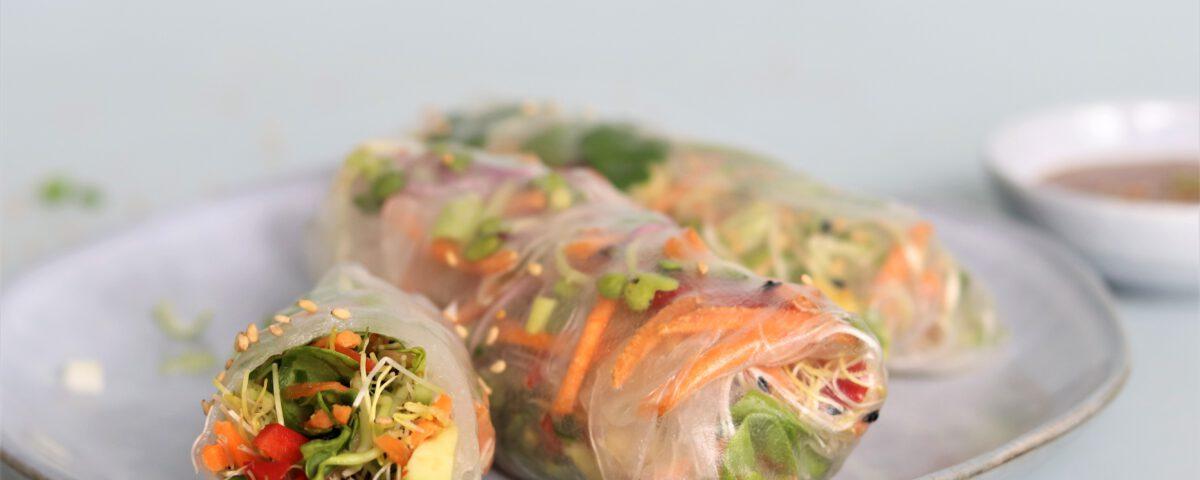 Springrolls met kiemen (glutenvrij)