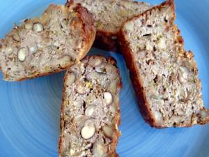 Notenbrood met prei
