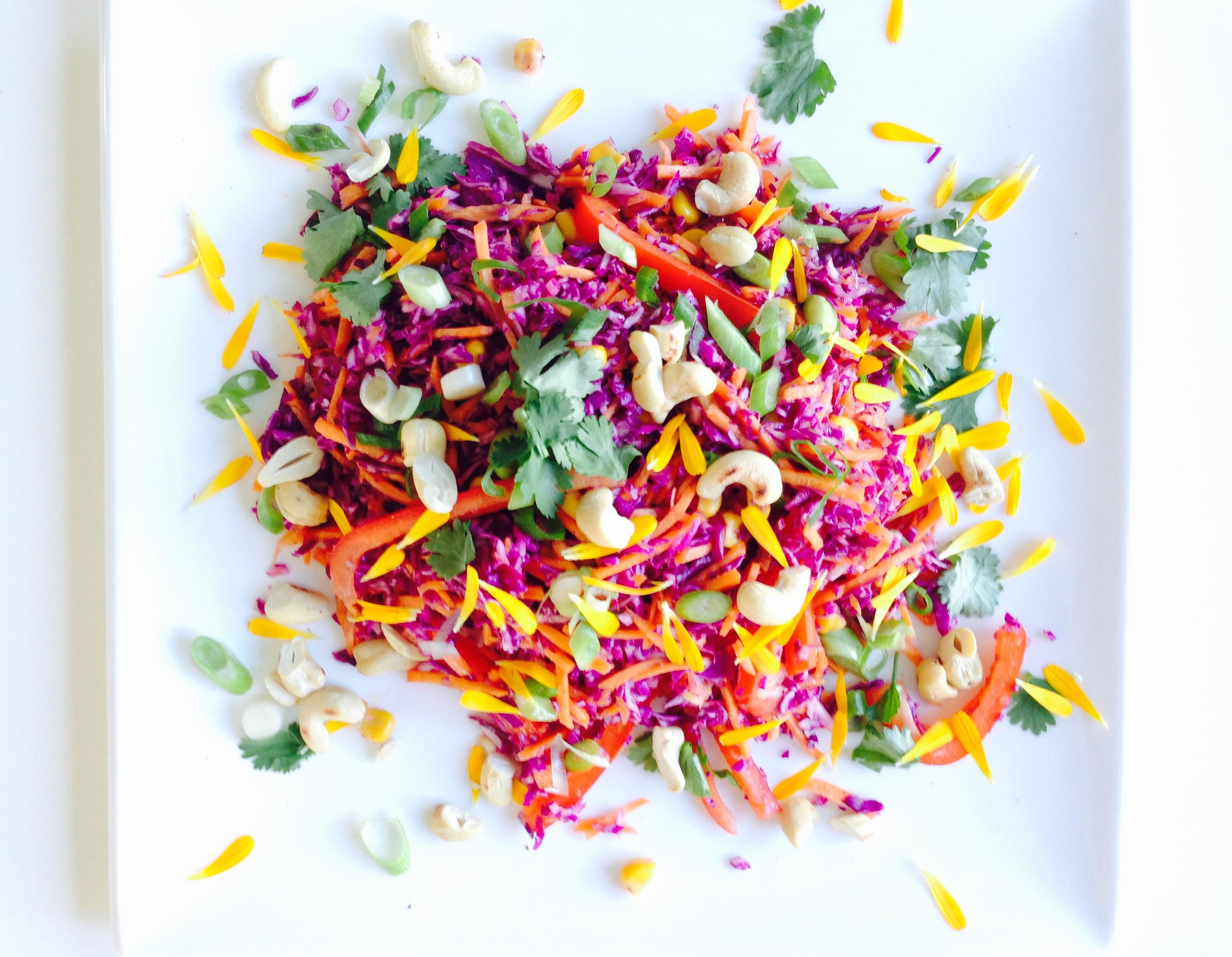 Zomerse salade geheel