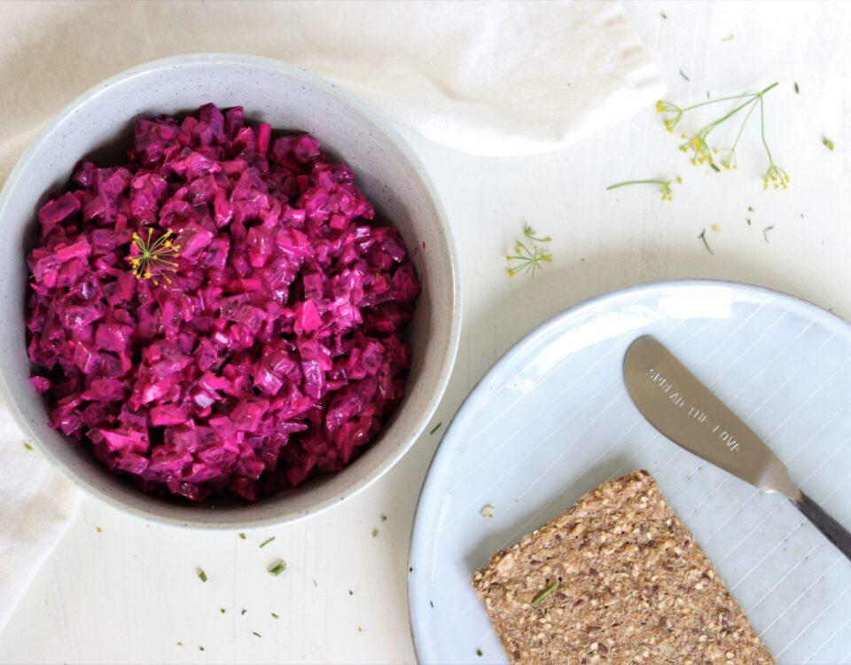 Zweedse rode bietensalade (Rodbetsallad)