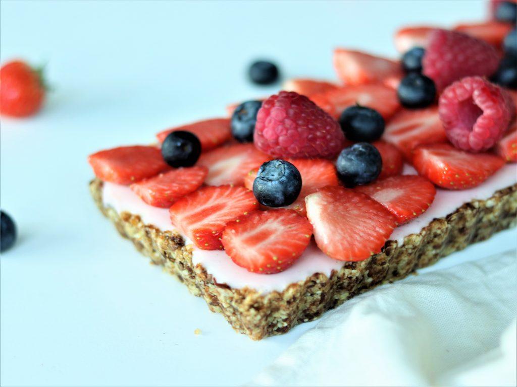 aardbeienslof, gluten- en lactosevrij
