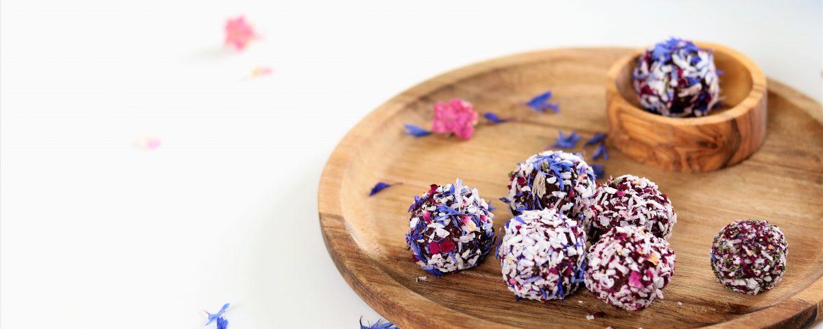 Blissballs met biet en rozen