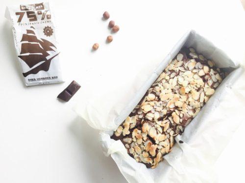 chocolade bananenbrood hazelnoot
