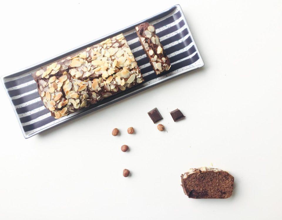 chocolade bananenbrood van hazelnotenmeel