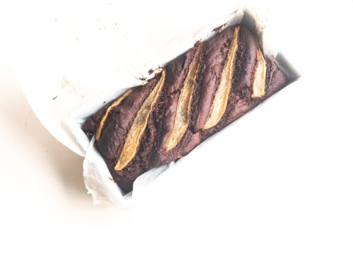 chocolade-banenebrood geheel