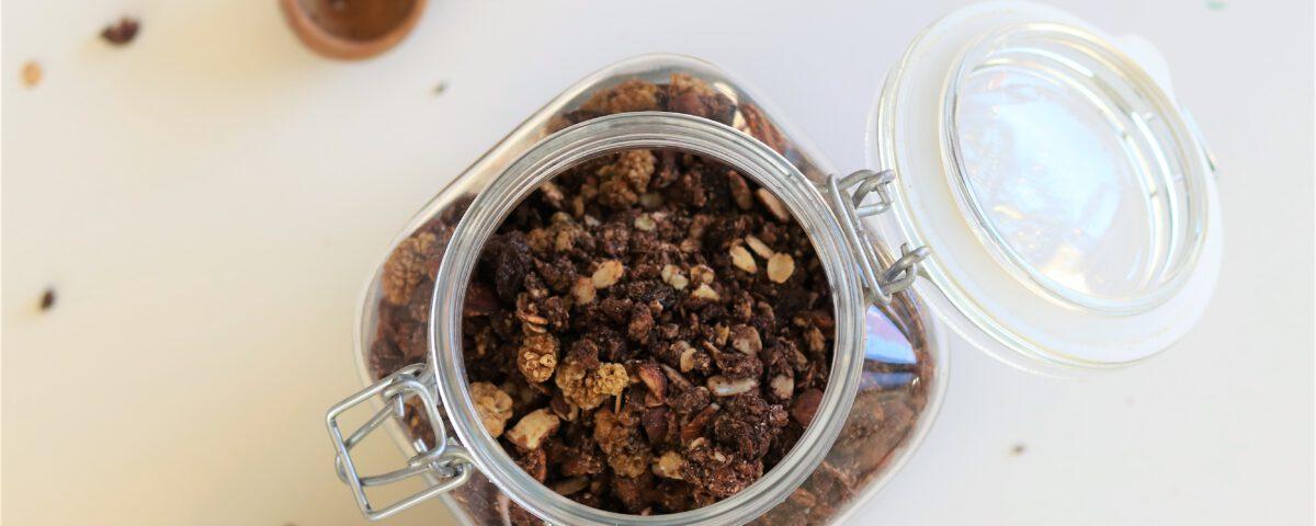 Chocolade granola met specerijen (glutenvrij)