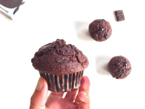 chocolade rogge muffins