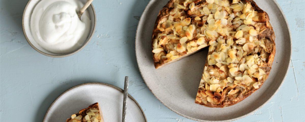 glutenvrije appeltaart met heel veel appel