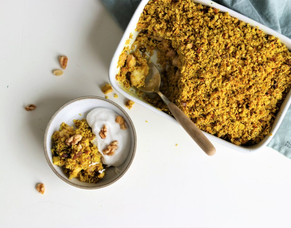 golden havermoutcrumble met pastinaak