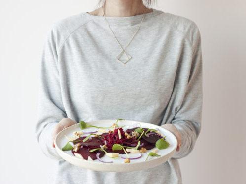 ik met bietensalade