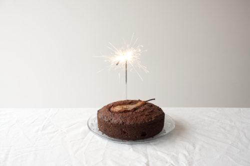liefke taart brandende ster dichtbij