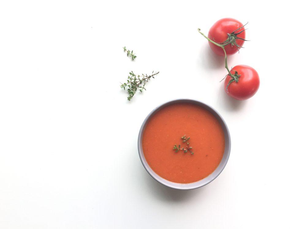 tomaten-paprikasoep uit