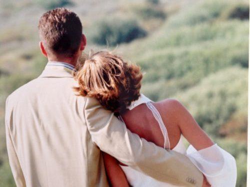 trouwen Ameland silouetten