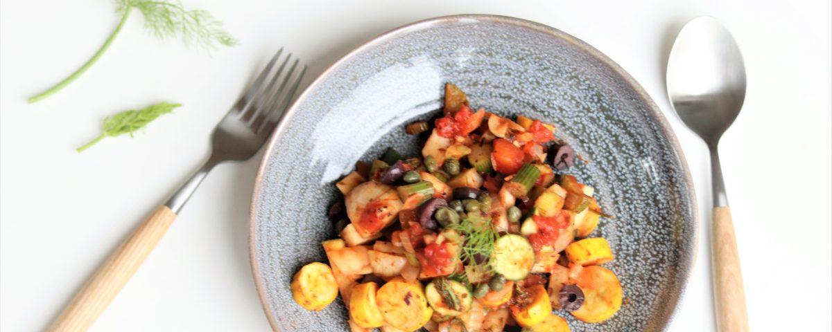 Venkel-courgettestoof met tomaat