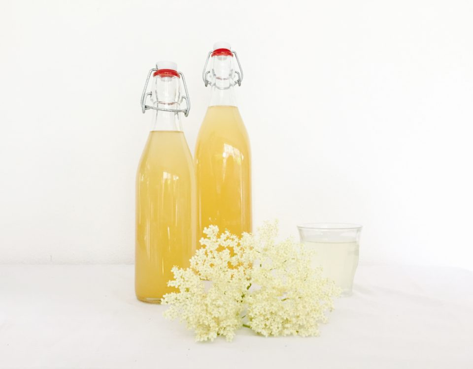 vlierbloesem limonade uitgelicht