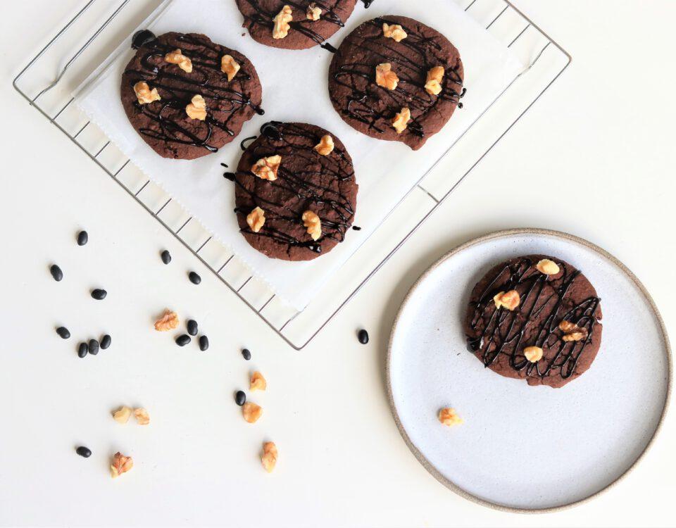 Zwarte bonen-chocoladekoeken